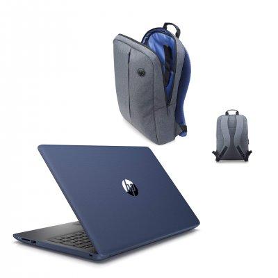 HP Лаптоп 4MX17EA, 15,6'', N5000 8 GB, HDD, 1000 GB, син, с ПОДАРЪК HP раница