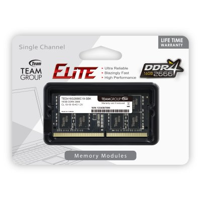 Памет 16G DDR4 2666 TEAM ELITE SODIM