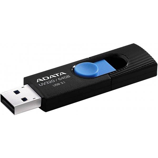 USB памет 64GB USB UV320 ADATA BLACK