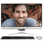 Компютър Clearance Lenovo IdeaCentre AIO 520s 23 IPS FullHD i57200U up to 3.1GHz, GT930A 2GB, 8GB DDR4, 1TB 2.5, ext. DVD, WiFi, BT, FullHD cam, Silver, Win 10 + USB silver keyboard and silver mouse