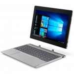 Таблет Lenovo Miix D330 4G 10.1 IPS 1280x800 N4000 up to 2.6GHz QuadCore, 2GB RAM, 32GB SSD, 5MP cam + 2MP front, MicroSD, Nano SIM, USBC, 2 x USB on dock, WiFi, BT 4.0, Mineral Grey, Win 10 + detachable keyboard