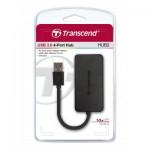 Оптично устройство USB 3.0 4портов хъб Transcend USB 3.0, 4Port HUB, Ultra slim and portable, Black