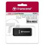 Оптично устройство Четец за флаш карта Transcend USB 3.0 SD/microSD SingleLun Card Reader, Black